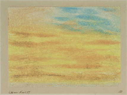 Sunset, 18.30, 1 November 1887.