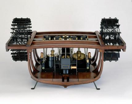 The original oscillating paddle engine, 1827.
