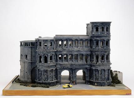 Roman city gate, Porta Nigra at Trier, Germany, c 300 AD.