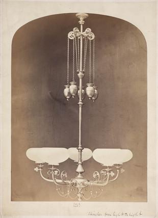 Gasolier, c 1880.
