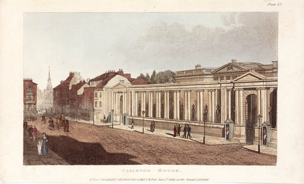 Carlton House, Pall Mall, London, 1809.