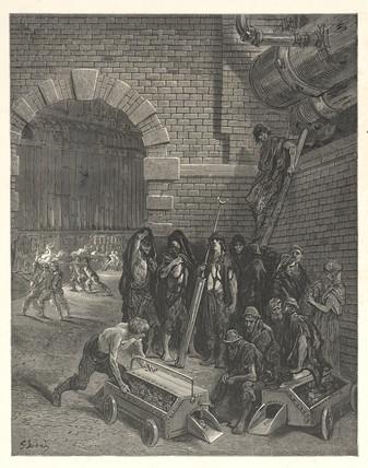 Lambeth Gasworks, London, 1872.