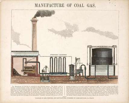 The manufacture of coal gas, 19th century.