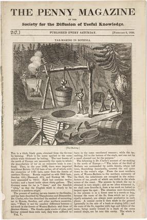 'Tar-making in Bothnia', 1836.