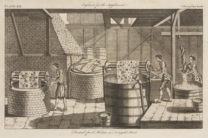 'Dye house', 1754.