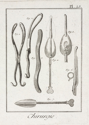 Surgical forceps, 1780.