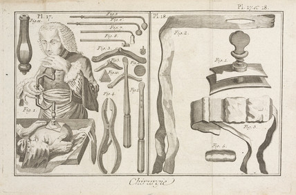 Trephination, 1780.
