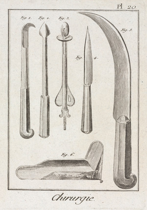 Surgical knives, 1780.