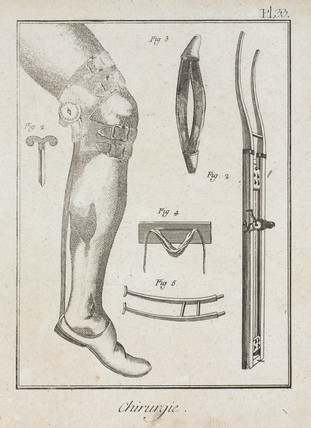Surgical supports, 1780.
