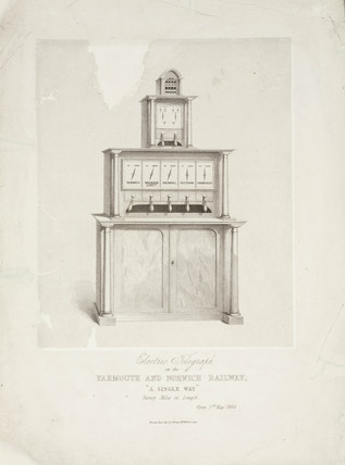 'Electric Telegraph on the Yarmouth and Norwich Railway', 1844.