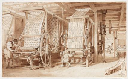 Swainson Birley Cotton Mill near Preston, Lancashire, 1834.