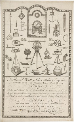 Trade card of Nathaniel Hill, 19th century.