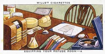 'Equipping Your Refuge Room', Wills cigarette card, 1938.