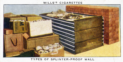 'Types of splinter-proof wall', Wills cigarette card, 1938.