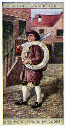 'Any work for John Cooper', trade card, 1916.