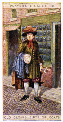 'Old Cloaks, Suits or Coats', trade card, 1916.