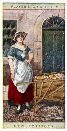 'New Potatoes', Player's cigarette card, 1916.