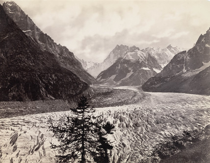 Mer de Glace, near Chamonix, Mont Blanc, France, c 1850-1900.