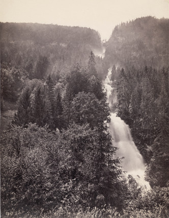 Giesbach Falls near Lake Brienz, Switzerland, c 1850-1900.