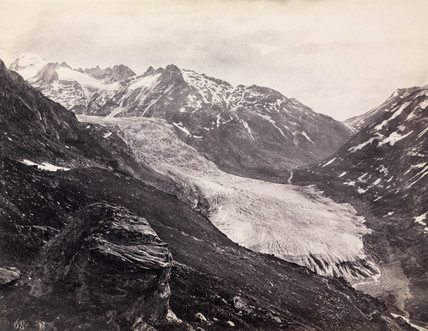 Rhone Glacier, Switzerland, c 1850-1900.