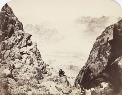 View from Mount Sinai, Egypt, c 1850-1900.