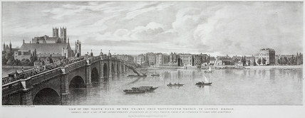'View of the North Bank of the Thames from Westminster Bridge', 1825.