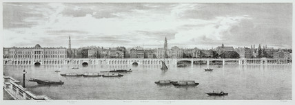 View from Somerset House to Temple, London, 1825.