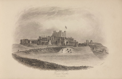 'Dover Castle from Charlton', Dover, Kent, 1846.