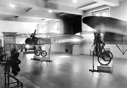 Bleriot No X Channel aircraft on display, Science Museum, London, May 1939.