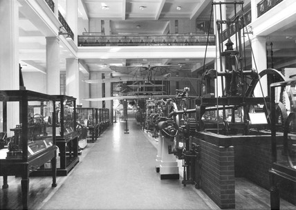 View of ground floor of the new building, Science Museum, October 1933.