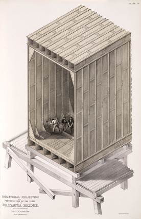 Portion of one of the tubes of the Britannia Bridge, 1850.