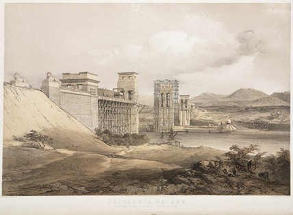 The Britannia Bridge, Menai Straits, 1848.