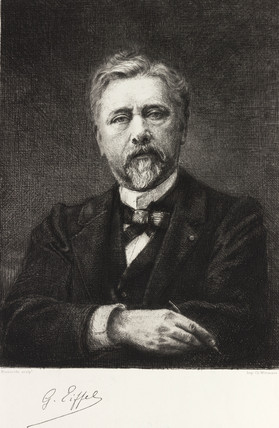 Gustave Eiffel, French civil engineer, c 1900.