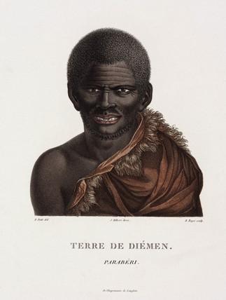 Tasmanian aboriginal, Australia, 1801-1803.