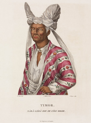 Naba-leba, King of the island of Solor, Timor, 1801-1803.