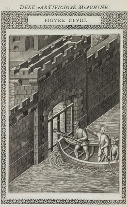 Device for cutting the iron bars of a portcullis, 1588.