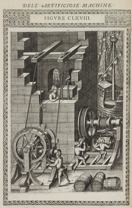 Two machines for lifting all kinds of weights, 1588.