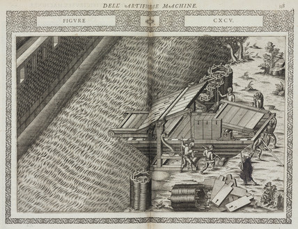Bridge made in the shape of a boat, 1588.