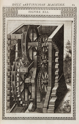 Machine for raising water from a river, 1588.