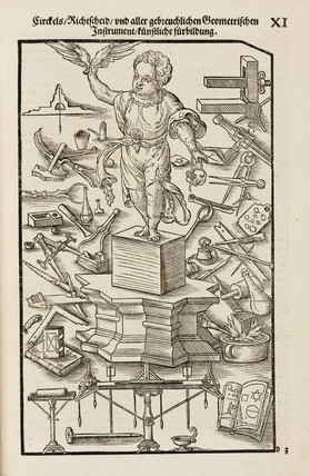 Commonly-used geometrical and other instruments, 1548.