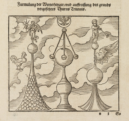 Ornaments for the tips of spires, 1548.