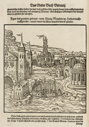 The harbour and mausoleum at Halicarnassus, 1548.