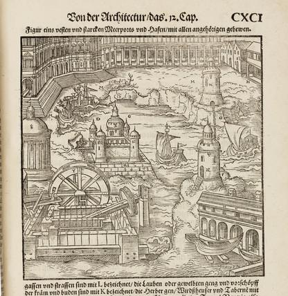 Harbour scene, 1548.