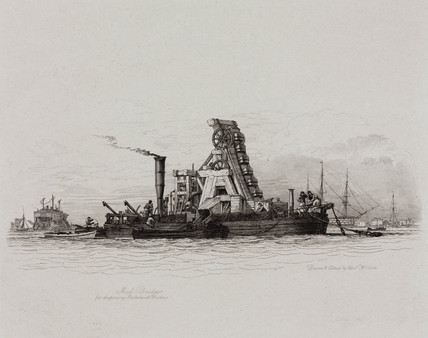 Mud dredger, 1829.