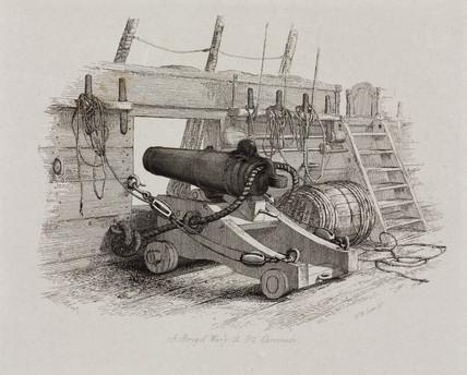 'A Brig of War's 12 Pounder Carronade', 1829.