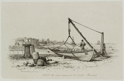 Skiff, West India Docks, Blackwall, London, 1829.