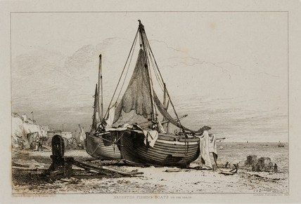 'Brighton Fishing Boats on the Beach', 1829.