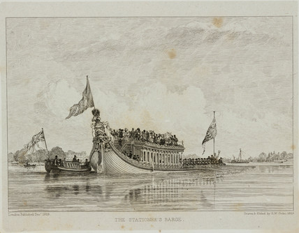 'The Stationer's Barge', 1829.