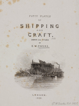Title page to Cooke's book on shipping, 1829.