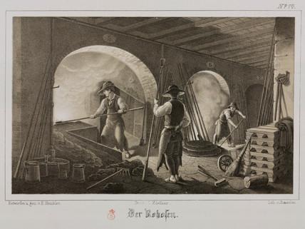 Forging precious metal, Germany, c 1851.